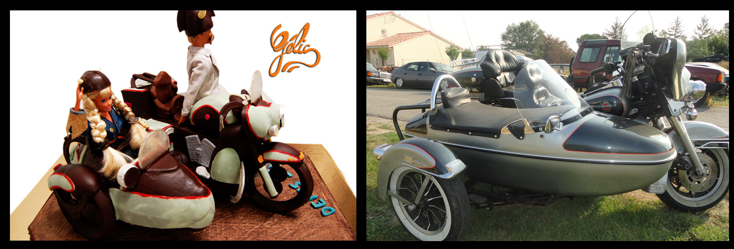 side car harley chocolat